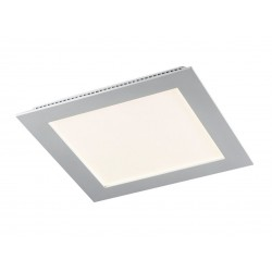 Downlight LED 22w cuadrado gris.